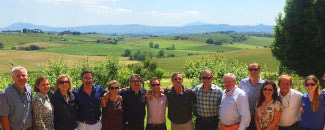 Touring Wineries with Marco: the photo shows Marco with a group of people